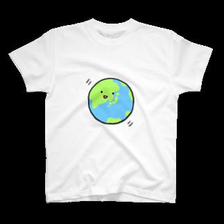 魔法少女見習い 波居のアースくん(文字なし) T-shirts