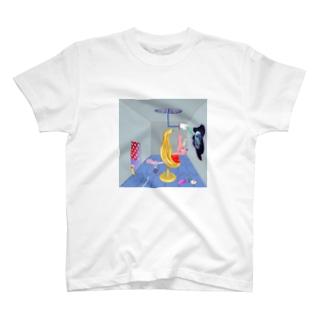 にゃんこ、たくらむ T-shirts