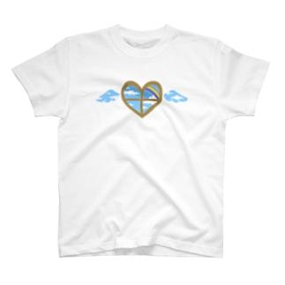 心の窓(レインボー) Tシャツ
