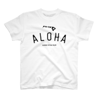 ALOHA ISLANDS  BLK LOGO T-shirts