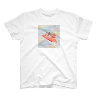 はりねずみの空中飛行 Tシャツ