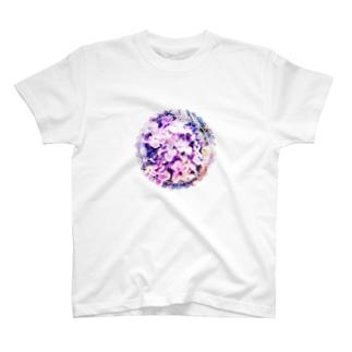 あじさい(レース) T-shirts