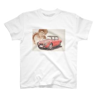 ヒストリックカー&ウォーターフロントのトヨタ800ヨタハチと浮谷東次郎 T-shirts