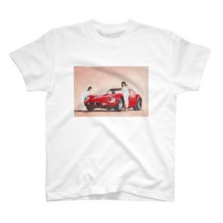 赤いハイヒールとフェラーリ250GTO T-shirts