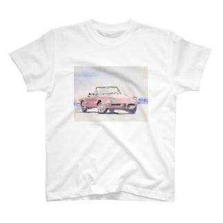 アルファロメオスパイダー。海へ。 T-shirts
