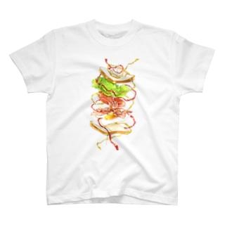 躍動するサンドイッチ T-shirts