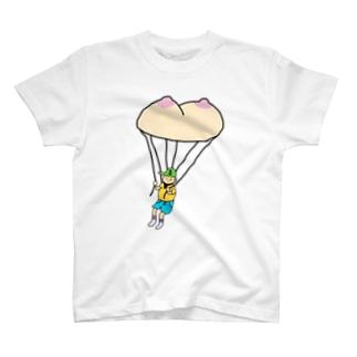 オツパイ型のパラでしゅーっち降下 T-shirts