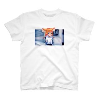 まう[スナップ] T-shirts