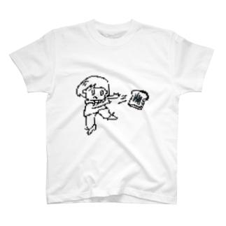 トーストビーム(モノクロ) T-shirts