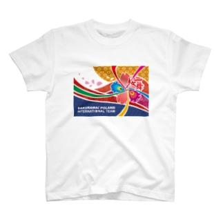 桜舞国際チーム 旗デザイン T-shirts