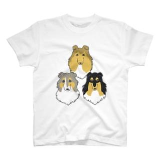 ふわふわコリー&シェルティちゃん② T-shirts