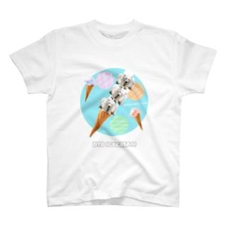 どうぶつタワーバトルアイスクリーム T-shirts