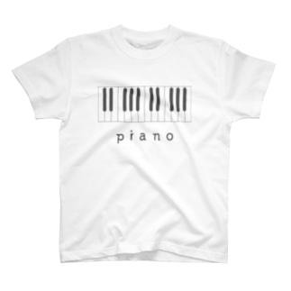 hitokoto-kotoba_piano T-shirts