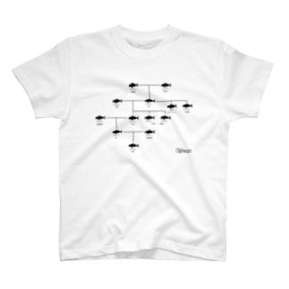 【与論産】オジサン家系図 T-shirts