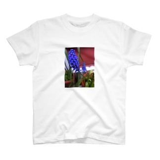 幻想的な青い花 T-shirts