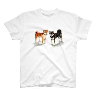 茶黒しばいぬTシャツ T-shirts