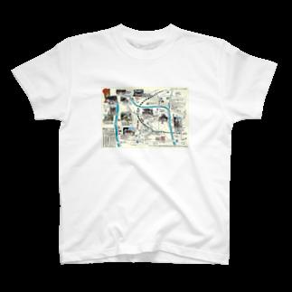 ふるさとグッズ販売にしふるかわ屋のH27初詣マップ Tシャツ