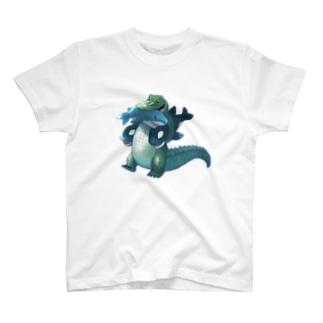 サメとシャチのぬいぐるみ Tシャツ