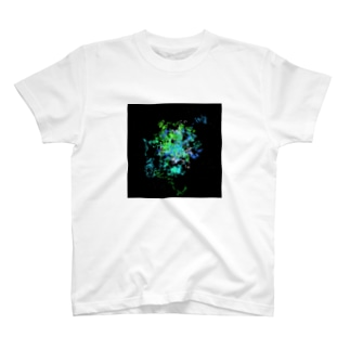 Pastel Galaxy(Green and Blue) T-shirts
