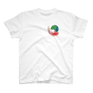 もぐぶーすいか T-shirts