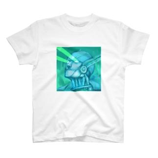 目からビーム(雷神紋) T-shirts