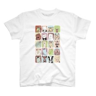 メガネ1 T-shirts