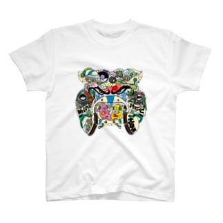 落書きブルドック T-shirts