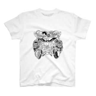落書きブルドック(白黒) T-shirts