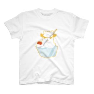 かき氷のシロクマ T-shirts