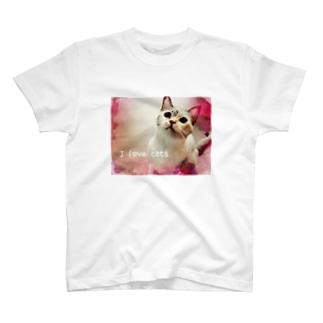 I love cats ① T-shirts