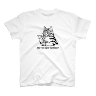 時そば猫 Tシャツ