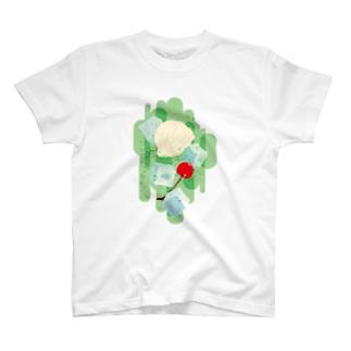フォーリングクリームソーダ T-shirts