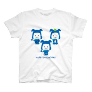 忍者犬たろうくん_集合A T-shirts