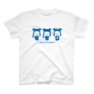 忍者犬たろうくん_集合B T-shirts