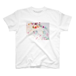 カラフルスパンコール T-shirts