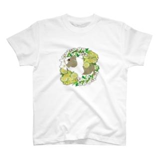 野菜の花の輪1・イングリッシュアグーチ T-shirts
