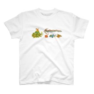 追いかけるモッチ潜水艦 T-shirts