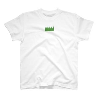 弁当のおかずを仕切る緑のやつ T-shirts