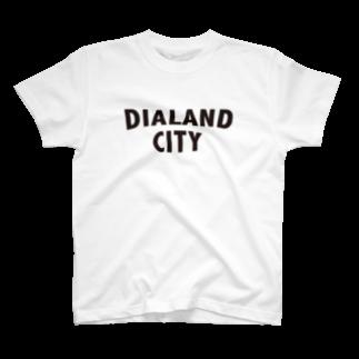 DIALAND LOVERSのDIALAND CITY BLACK T-shirts
