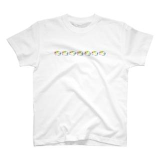 いろいろ色のモルモット並ぶ編 T-shirts