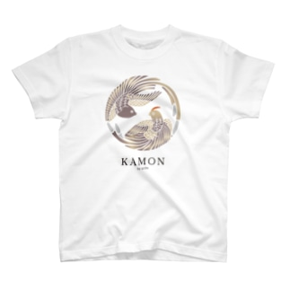 【KAMON by seibi】bird 尾長鳥 T-shirts