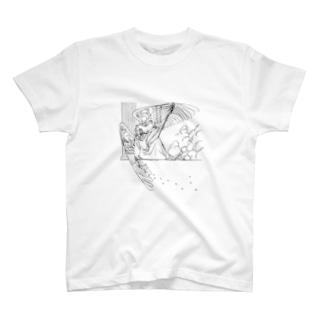 柱に寄りかかる天使 T-shirts