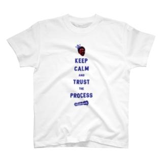 'TRUST THE PROCESS' Blue.edit T-shirts
