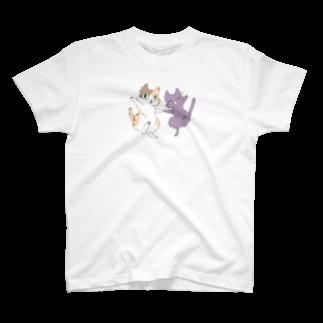 やとりえ-yatorie-のミケ黒! Tシャツ