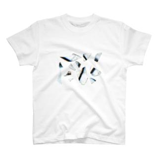 AW18 - flagmented rainbow - 虹色ガラス T-shirts