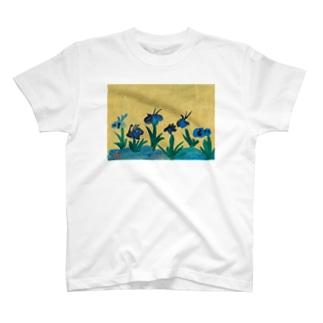 かきつばたずびょうぶ T-shirts