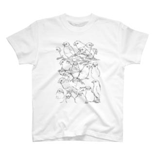 らくがきブンチョウ T-shirts