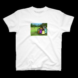 ゆきうさぎ工房のお花と踊る T-shirts