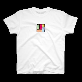 minato128のカラフル四畳半 Tシャツ