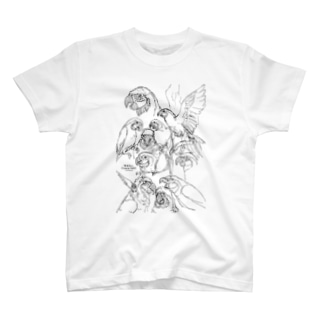 らくがきルリコンゴウインコ T-shirts